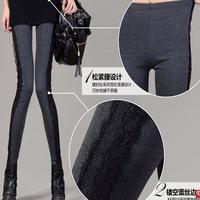 2014 new side lace leggings Slim thin pantyhose Yiwu wholesale fashion pants