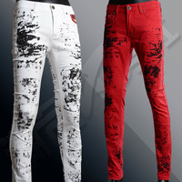 Hot Top Quality spring 2014 men's fashion jeans men's pants Men's Jeans men Slim Fit personality denim Jeans Trousers CP119