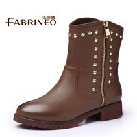 2013 spring and autumn female martin boots fashion rivet boots boots medium-leg women's shoes boots