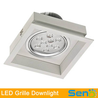 9W 18W 27W LED Grille downlight white color high quality anti dizzleness high quality 3 years warranty