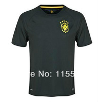 A+++ Top Thailand Brasil away black  Thai New 2014 Brazil Away Home Soccer Jersey Futbol Shirt Custom Neymar JR Oscar