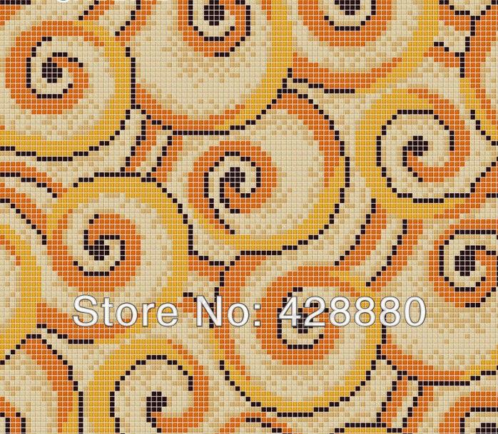 Popular Orange Glass Tile From China Best Selling Orange