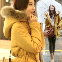 2014 plus size clothing thickening thermal with a hood wadded jacket medium-long cotton-padded jacket cotton-padded jacket
