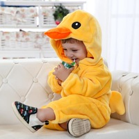 Killer loop rabbit baby clothes autumn duck style romper flannel baby bodysuit romper newborn