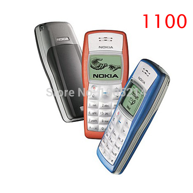 Refurbished Original Phone Nokia 1100 Mobile Phone Unlocked cell phones 1 Year Warranty free shipping