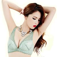 Sexy lace demi minimizer deep V plunge bra low cut quater cup brassiere for women plus size bras 34c 32d 34d 36c 36d 38c 38d bra