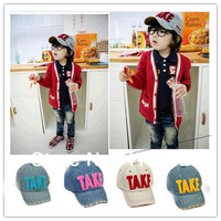 NXM010-2014 Hot fashion children's baseball cap hat TAKE Washed denim cowboy hat parent-child cap 4 colors free shipping