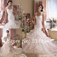 Custom white/ivory Mermaid Wedding Dresses size 2-4-6-8-10-12-14-16-18-20-22