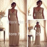 New Fashion 2014 Country Western Wedding Dresses trajes de novia Cap Sleevs Bridal Gowns Backless