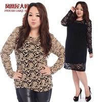 Vestido De Festa Party Dresses 2014 Plus Size Clothing Spring Summer Woman Lace One-piece Dress High Quality Clothes Top Xl-4xl