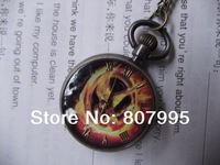 Free shipping new retro 30mm Lovebirds pocket watch Sweater chain lanyards table Long necklace accessories
