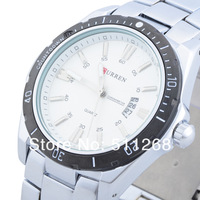 CURREN Brand Men Military Watches,Men Sports Watches Auto Date,Men Full steel Watches Free Drop shipping