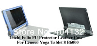 200PCS By Fedex/DHL For Lenovo B6000 Flip Cover,Folding PU Leather Case For Lenovo Yoga Tablet 8