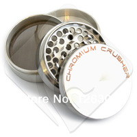"Chromium Crusher 2.1"" 4pc Herb Tobacco Spice Grinder w/ Lifetime Warranty"