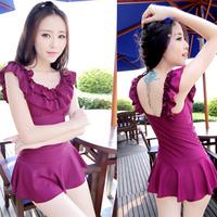 2014 New 2014 female elegant one-piece dress swimwear perfect female swimsuit hot spring swimwear female  Free Shipping