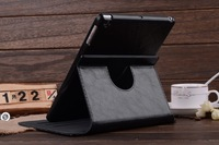 Best Quality PU Leather Case For iPad Air Smart Cover 360 Degree Rotate Cover Case +Free Screen Protectors+touch pen.