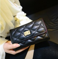 2014 Hot Sale Korean Style Long Women Wallet Fashion Clutch bag Lady Leather Purse Free Shipping Quality Assurance NK -32
