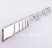 free shipping, Excellent Unique 3D Design AMG Front Grille Emblem For Mercedes-Benz, car metal Badge Logo sticker, silver color