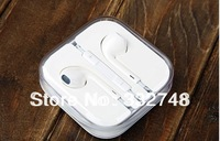 Free shipping  wholesale Earphone Headphones With Remote and Mic For apple IPhone 5 5G Retail box High Bass quality