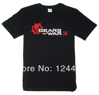 Free Shipping 2014 New Style  GEARS OF WAR 3  T-shirt The clown with short sleeves  The classic black
