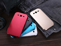 50PIECES/LOT For samsung Galaxy SIII 3 I9300 ultra-thin metal Aluminum case with retail packaging