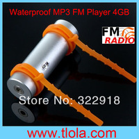 50pcs/Lot DHL Free to USA Waterproof MP3 Player for Swimming Water Sports FM Radio+ 4GB Memory