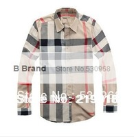 B Brand New Mens Dress Shirts Men's Slim Fit Unique Neckline Stylish Plaid Striped Bussiness Casual Long Sleeves T Shirt