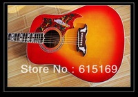 2014 Custom Shop New Arrival Sunburst Hummingbird HS Electric Acoustic Guitar With Fisherman Pickups Free Shipping