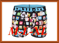 Free Shipping 2014 New 55 Styles Men Brand pull in Underwear Fashion Sexy boxers Mens boxer shorts black blue white red