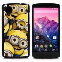 FOR Nexus 5 CASE, Despicable Me Minion Rush Hard Case With Alumium Back For LG Google Nexus 5 (NEXUS5-1543)