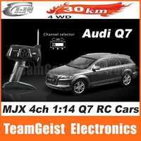 HOT SALE MJX 4ch 1:14 Q7 radio RC car model R/C Cars model Front REAR LED Light toy gift & Original color box Black/white/Silver