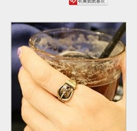 2014 new fashion hot sale retro belt ring silver bronze