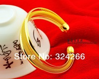 Trinuclear classic net pure 24k gold bracelet female fashion gold  bracelet gold hand ring personalized jewelry