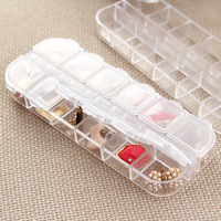mix min order $20 The disassemblability 12 transparent tools storage box sclerite box multi-purpose jewelry box finishing k1726