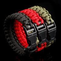 DIY Outdoor handwoven survival detachable paracord bracelet cheap 2014 new free shipping