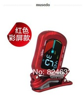 Musedo Guitar Tuner Violin Ukulele Guitar Tuner Black /red Color with LCD Screen High quality