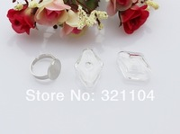 Free ship! 50sets/lot Charm Glass Bubble & Ring set DIY Jewelry Findings