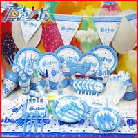 Happy birthday Free shipping 90 pcs baby boy birthday party decorations birthday party supplies1st birthday party supplies