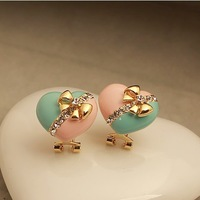 Strings of high quality fashion jewelry OL love color earrings earrings wholesale Korean fashion line