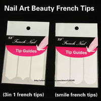 wholesale nail art decoration 10 styles French smile tips Manicure Tip nail guides sticker 500pcs/lot free EMS/DHL free shipping