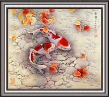 Diy pintura diamante dos peixes decoração de 5D coloridas brilhantes artesanato diamante redondo cristal decoração de(China (Mainland))
