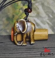 Yak bone vintage tibetan jewelry elephant pendant personalized necklace small accessories