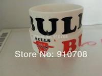 2014 hotsale wristband BULLS silicone  bracelet new designband    free shipping 50pcs/lot free shipping