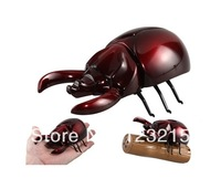 New 12cm 4ch mini rc flying insect toy stag beetle with light