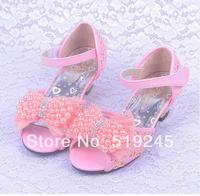 New 2014 Children/Kids Sandals for Girls Princess Girls Sandals High-heeled Latin Dance Summer Shoes for Girls Free ShippingA121