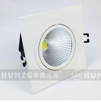 Free Shipping 7W COB White Square LED Downlight Ceiling LED Light, High Power LED COB Square Downlight Ceiling Lamp