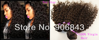 Brazilian  Deep Wave Remy Hair 3Pcs Lot Mixed Length Long Kinky Curly Weave Hairstyles For Black Women 2014