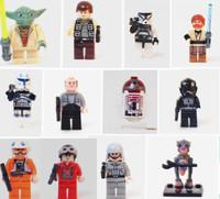 Super Star wars Model Classic Toy Aliens Clone Trooper R4 P17 Yuda Han Solo Pilot firefighters monster Plastic Block dolls Gift