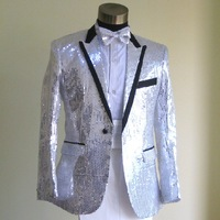 1111 men's  autumn suits suit wedding dress  costumes silver costume  for men
