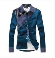 Free shipping!  fashion men slim long sleeve shirts, casual  men's long sleeve shirts, 10 color 5 size